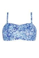 Amoena Prothesen-Bikini-Oberteil Louisa 71509 in surf print in der Vorderansicht mit Trägern