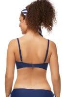 Amoena Prothesen-Bikini-Oberteil Infinity Pool 7472 in dunkelblau weiß in der Rückenansicht