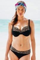 Anita - Bikini-Oberteil Animal Safari - schwarz