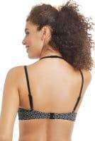 Amoena Prothesen-Bikini-Oberteil Ayon 71117 in schwarz weiß in der Rückenansicht