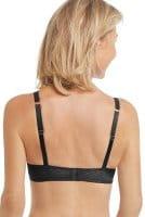 Amoena Prothesen-BH Karolina SB in schwarz in der Rückenansicht