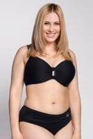 Ulla - St. Tropez Bikini-Hose mit Spange 9133 - Schwarz